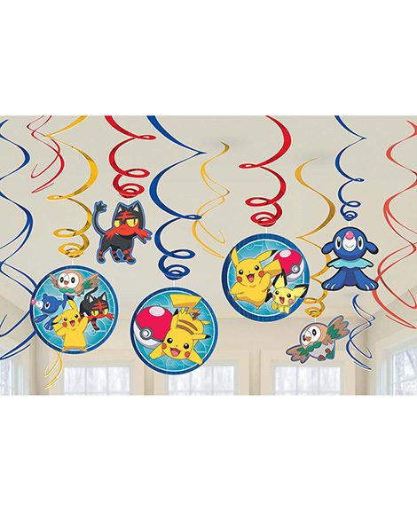 Pokemon Core Swirl Hanging Decorations 12 Pieces