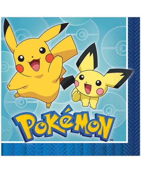 Pokemon Core Luncheon Dinner Napkins 16 Ct