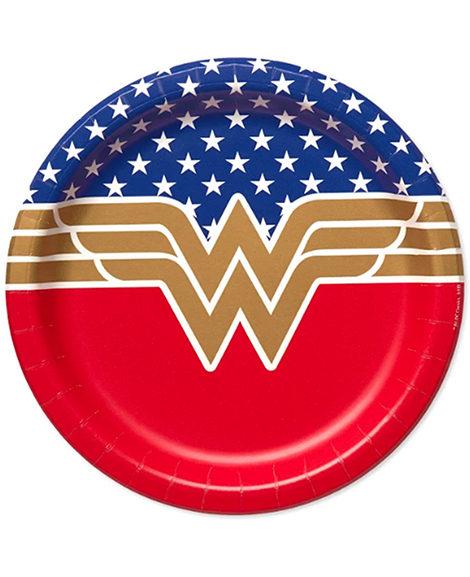 Wonder Woman Round Dessert Plates