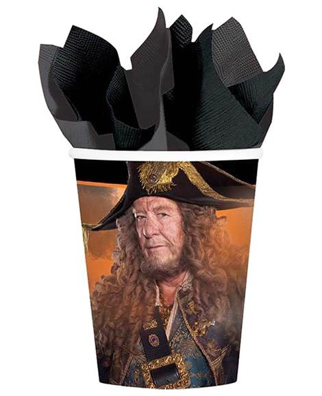 Pirates of the Caribbean Dead Men Tell No Tales 9 oz Paper Cups 8 Ct