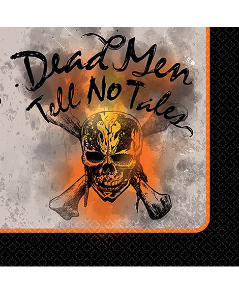 Pirates of the Caribbean Dead Men Tell No Tales Beverage Napkins 16 Ct