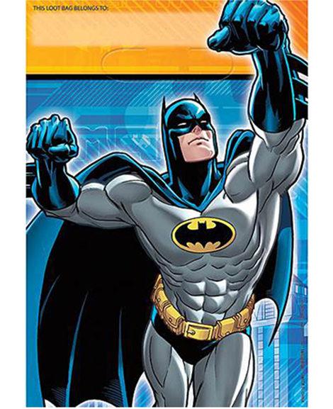 DC Batman Party Favor Loot Bags 8 Ct