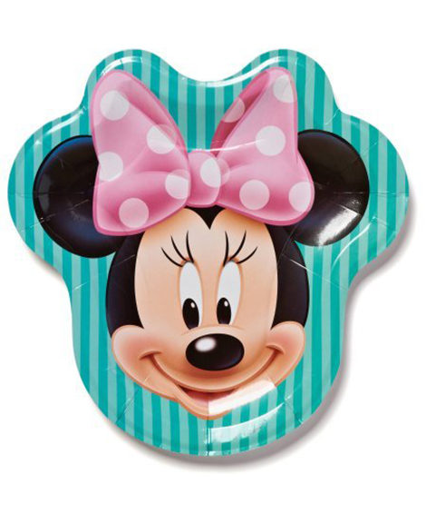 Minnie Mouse Shaped Lunch Plates 8 Ct