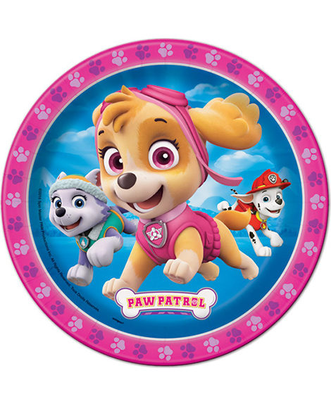 Paw Patrol Girls Dessert Plates by Unique