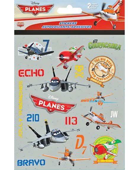 Planes Party Favor Stickers 2 Sheets