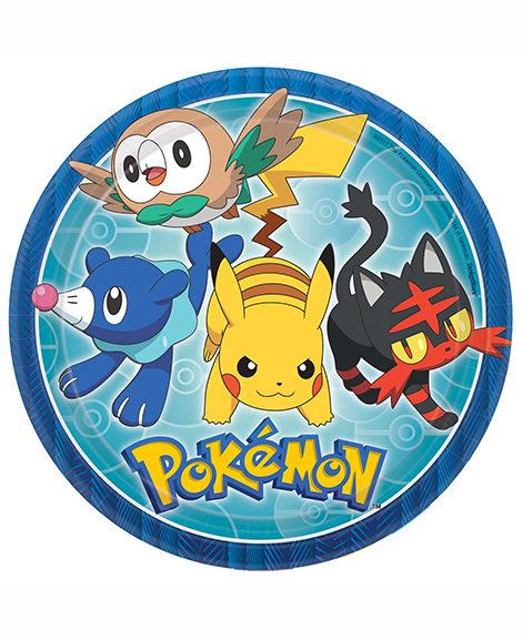 Pokemon Core Lunch Plates 8 Ct