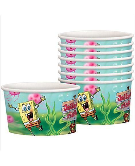 Sponge Bob Square Pants Snack Ice Cream Cups 8 Ct