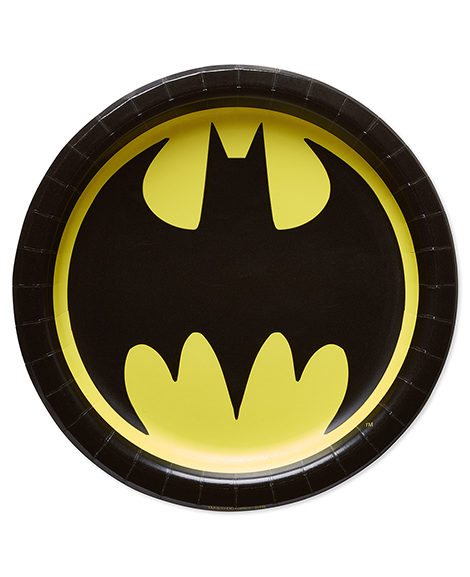 Batman Classic Round Logo Dessert Plates 8 Ct