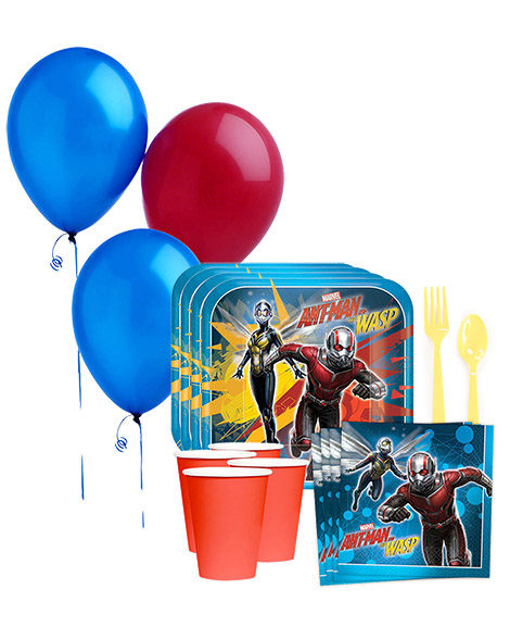 Ant Man and the Wasp Birthday Party Tableware Package for 8 Guests