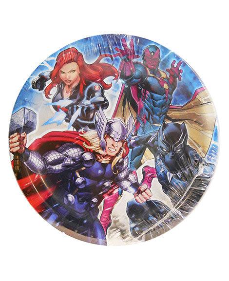 Avengers Epic Round Dessert Plates 8 Ct