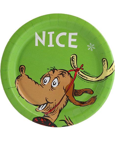 Dr Seuss NICE Christmas Dessert Plates 8 Ct