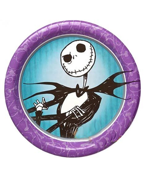 Nightmare Before Christmas Lunch Plates 8 Ct