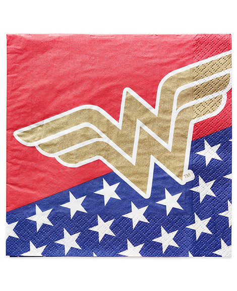 Wonder Woman Lunch Napkins by Amscan 16 Ct