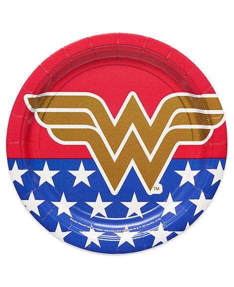 Wonder Woman Round Dessert Plates by Amscan