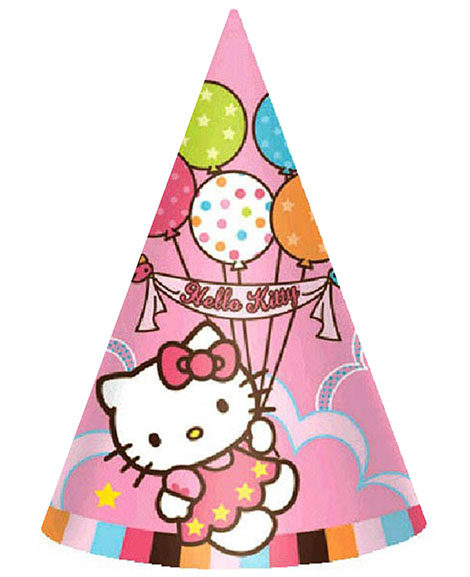Hello Kitty Balloon Dreams Cone Hats 8 Ct
