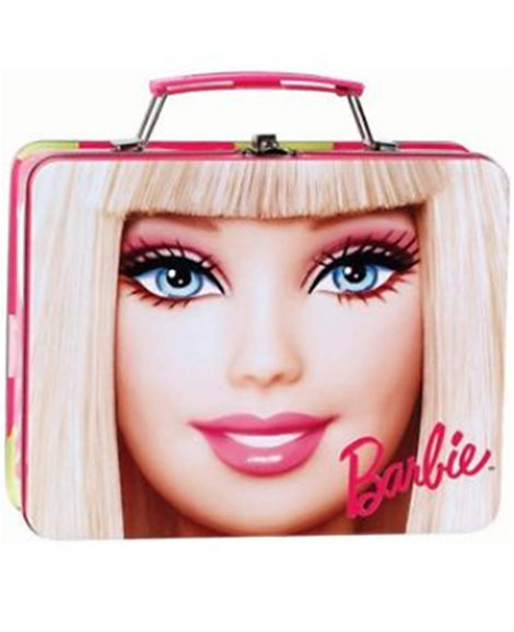 Barbie Tin Lunch Box with Metal Latch and Handle
