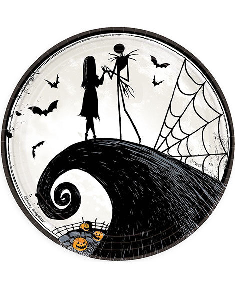 Nightmare Before Christmas Tim Burton Lunch Plates
