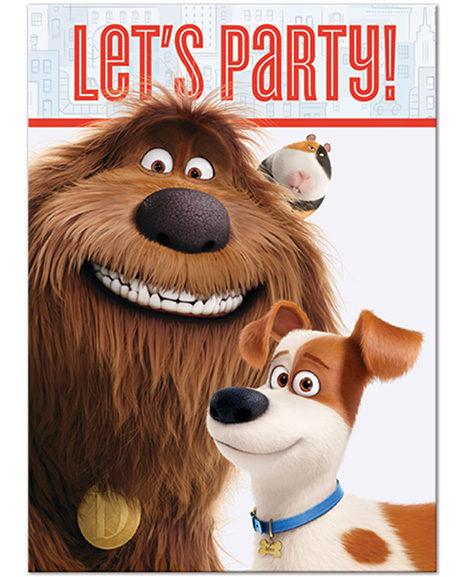 Secret Life of Pets Party Invitations