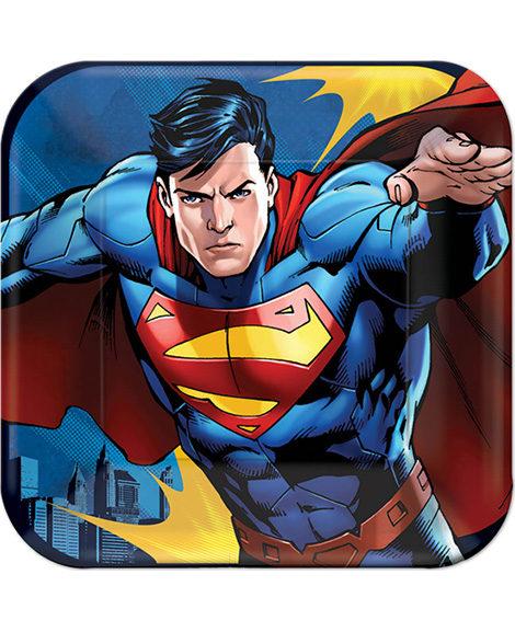 DC Superman Dessert Plates 8 Ct