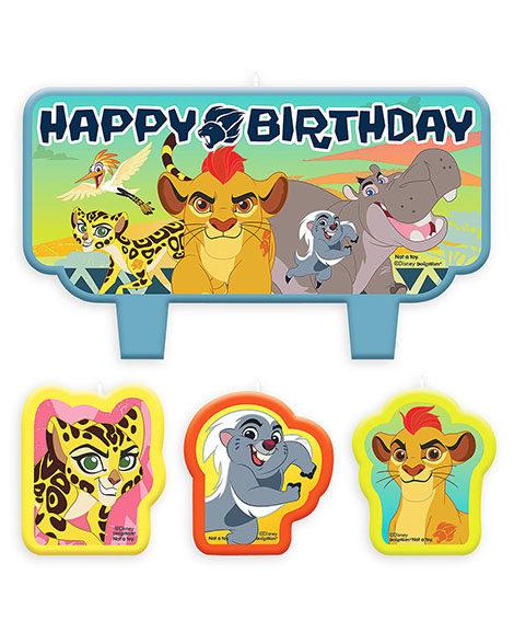 Lion Guard 4 Piece Cake Topper Candle Set