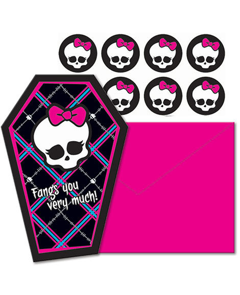 Monster High Thank You Cards 8 Ct
