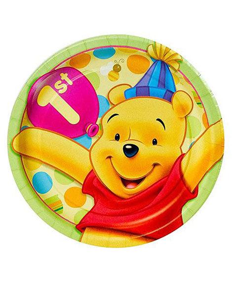 Pooh 1st Birthday Dessert Plates