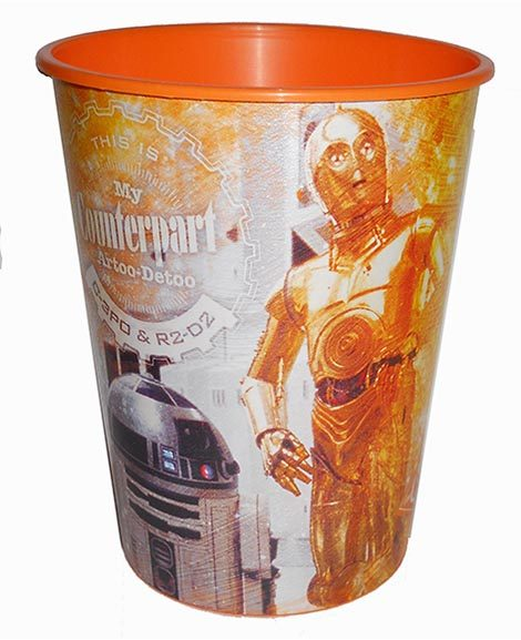 Star Wars Keepsake Favor Plastic Stadium Cup C3PO And R2D2