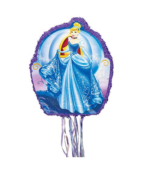 Cinderella Drum Style Pull String Pinata